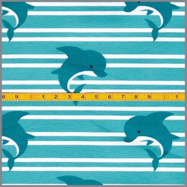 Jersey kleiner Delfin auf Streifen Atlantis – Willkommen bei NähLieb
